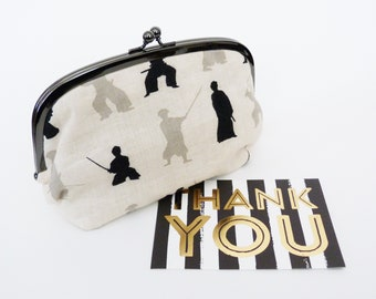 Japanese Pencil Case Zipper Pouch Back to School Teachers Gift Bag Organiser Japan Asanoha Prints Pencil Case