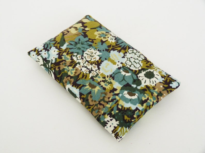 get well soon gift floral gift gifts for her Liberty floral fabric Liberty floral tissue holder green and black cotton floral print