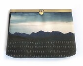 Clutch bag, mountain storm purse