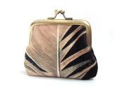 Feather, velvet coin purse