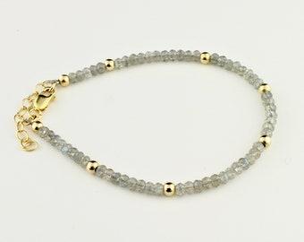 Tiny Labradorite, 14K Gold Filled Gemstone Bracelet by Carol Ann Bosek