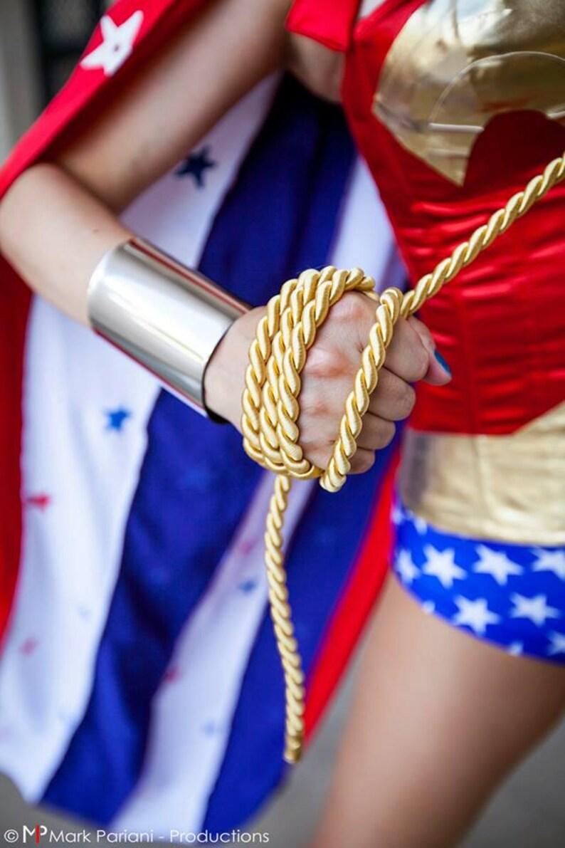Wonder Woman Cuffs Metallic Silver color bracers costume image 0