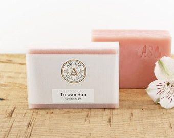 Tuscan Sun Soap | Pink Soap, Handmade Soap, Cold Process Soap, Girlfriend Gift, Birthday Gift, Women Gift Idea, Gift for Teacher, Co-Worker