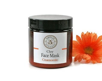 Chamomile Face Mask | Clay Facial Mask, Skin Care Face, Kaolin Clay Mask, Skincare for Face, Natural Skin Care Product, Gentle Face Scrub
