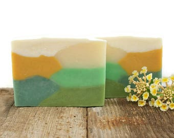 Verbena and Cotton Soap | Cold Process Soap, Vegan Soap, Bath Product, Cold Press Soap, Unique Soap for Kids, Gift Idea for Her Him