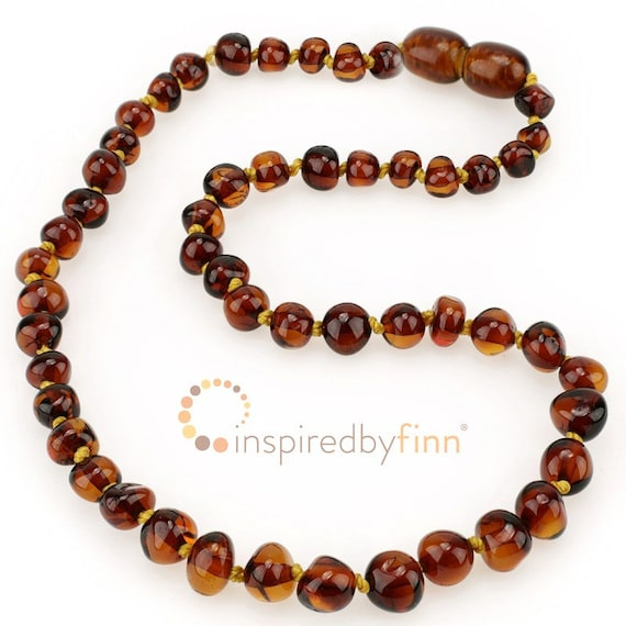 11.5-12.5 Polished Golden Swirl Amber Necklace