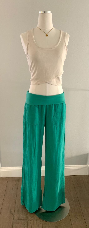 Linen Wide-Leg Pants - Circa Y2K