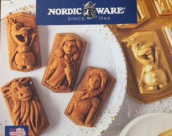 SAME DAY SHIPPING! - Disney Frozen 2 Cast Character Cakelets Pan by Nordic Ware - Elsa - Anna - Olaf - Sven