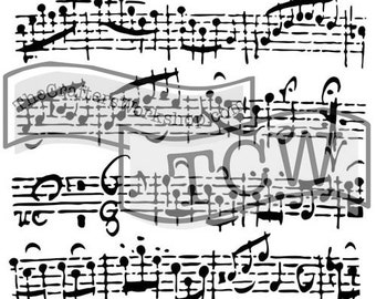 29ea1f20c1127e Sheet Music 6x6 Crafters Workshop Stencil - for cookies