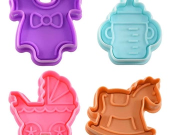 SAME DAY SHIPPING! - 4 pc Baby Cookie & Pastry Stamper Set