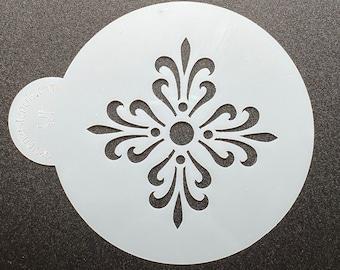 """Scroll Mini Cookie Stencil 2 1/8"""""""