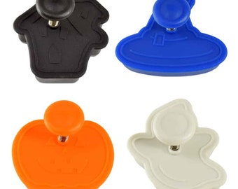 SAME DAY SHIPPING! - 4 pc Halloween Cookie & Pastry Stamper Set