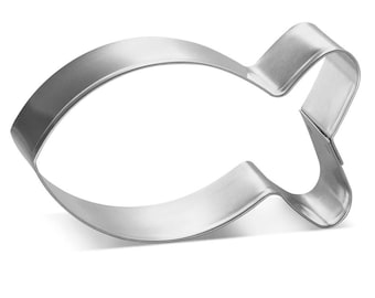"""Small Cute Fish / Fish Crackers Metal Cookie Cutter 3 1/4"""""""