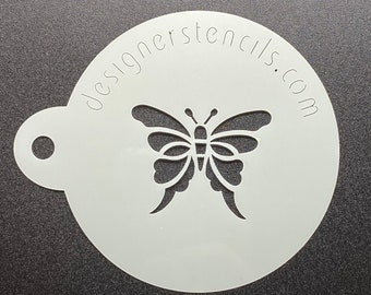 """Butterfly Mini Cookie Stencil Fits a 2"""" Sandwich Cookie or Macaron / Macaroon"""
