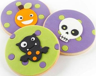 HALLOWEEN Mini Cookie Cutter Set - Autumn Carpenter - Cutie Cupcake Fondant Cutters