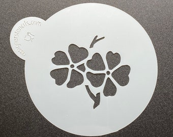"""Pansy Flower / Pansies Mini Cookie Stencil 1 3/4"""" Fits a 2"""" Sandwich Cookie or Macaron / Macaroon"""