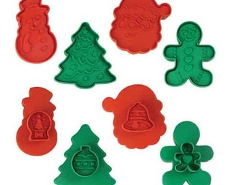 SAME DAY SHIPPING! - 4 pc Autumn Cookie & Pastry Double-Sided Stamper Set