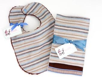 Burp the Baby Hampton Stripe Set
