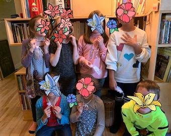 Kit de colliers pour enfants avec prénom pour fête d'enfants - cadeau ami - anniversaire d'enfants