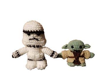 Star Wars Characters, Crochet Amigurumi, Made to Order, star wars crochet doll, star wars doll, crochet doll amigurumi, crochet star wars