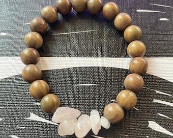 Rose Quartz beaded mala bracelets for women