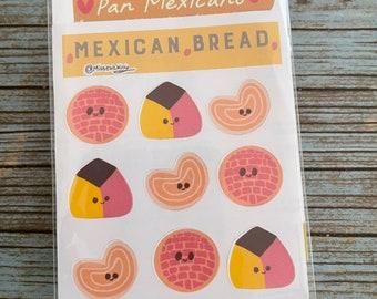 Mexican bread  sticker sheet 4X6