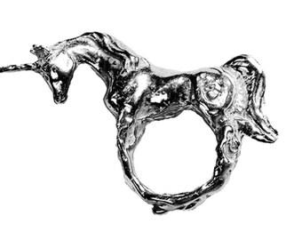 Unicorn Ring in Silver