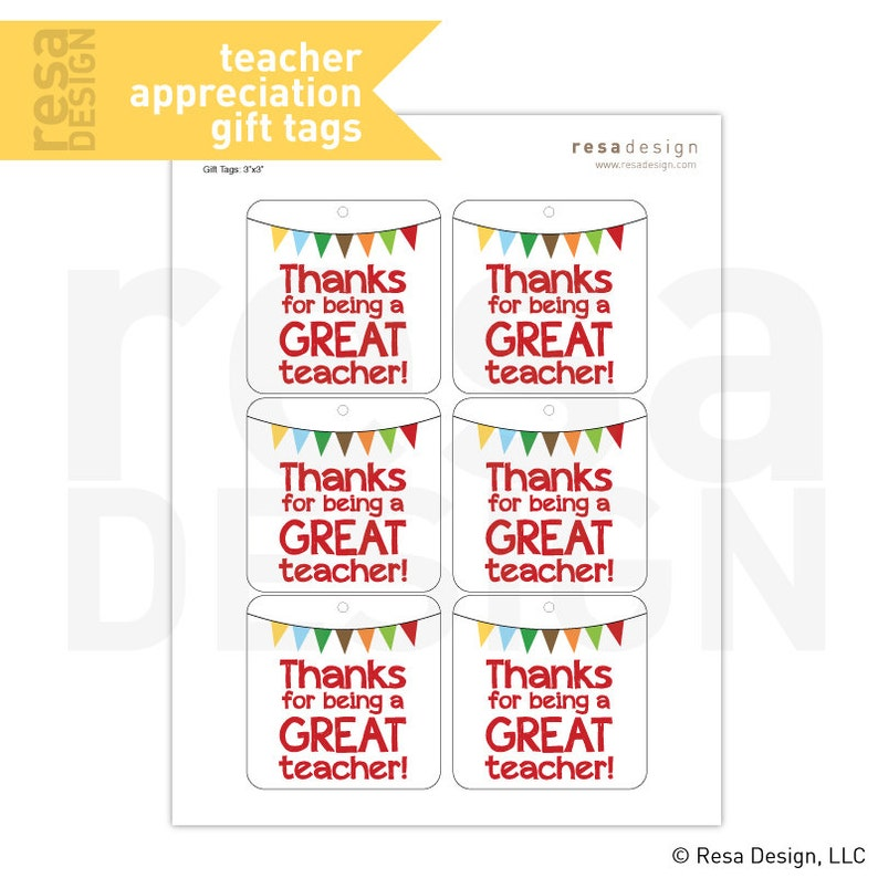 graphic about Teacher Appreciation Tags Printable known as Trainer Appreciation Present Tags Printable - Printable Reward Tags - Thank on your own Tags