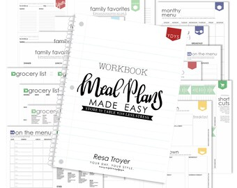 Meal Planning Printable Workbook and Free Meal Planning eBook