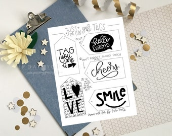 Hand Lettered Gift Tags - Hand drawn printable gift tags to add to any gift
