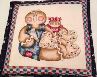 Christmas Print  Pot Holder