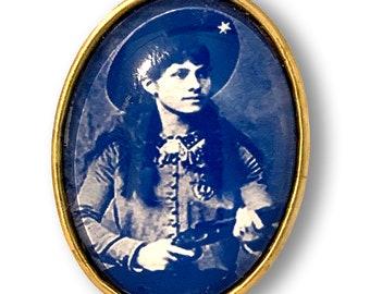 Sharp Shootin' Annie Oakley Brooch