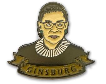 RBG Ruth Bader Ginsburg Enamel Pin Supreme Court Justice Number 1