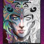 Magical Beauties Book 1, Digital Download, 24 Fantasy Coloring Pages, Adult Coloring Book, Digital Coloring Pages, Printable Coloring Pages