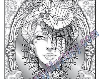Single Coloring Page Temptation from the Magical Beauties   Etsy