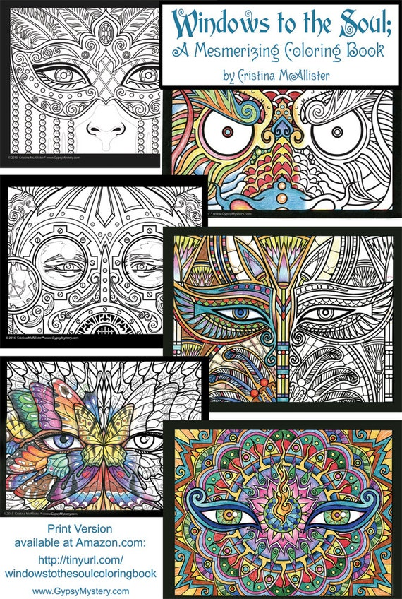 windows to the soul coloring book digital download edition etsy