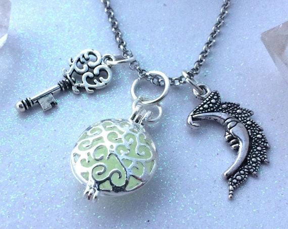 Magick Moon Key Glow Locket® Necklace