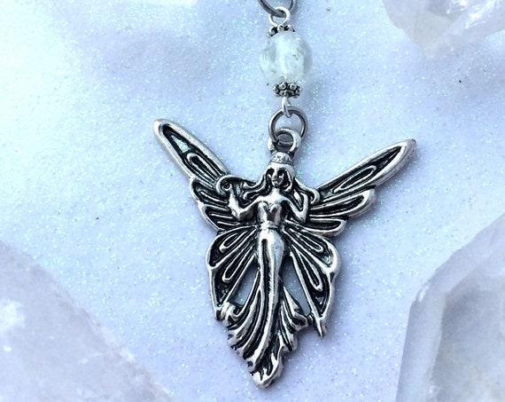 Faerie Wisp Glow Locket Orb Pendant Necklace Fairy Magic Glowing Jewelry Fairytale Magical Glowies Monique Lula Handmade Fantasy Gift