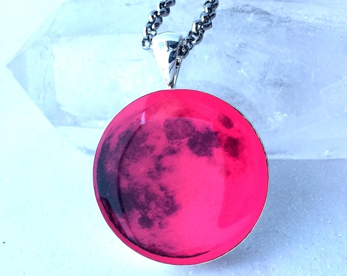 """Full Pink Moon Real Space Glow in the dark 1"""""""