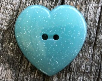 Wooden Pastel Hearts Design Buttons 30mm The Bead and Button Box