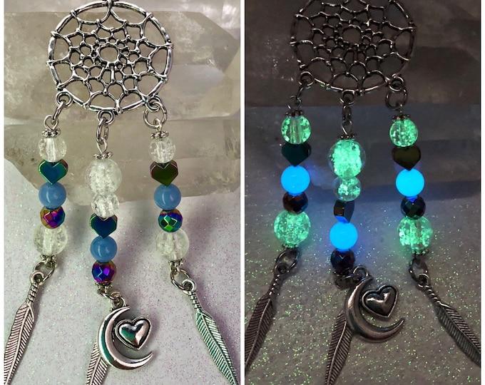 Rainbow Hearts Dreamcatcher Necklace