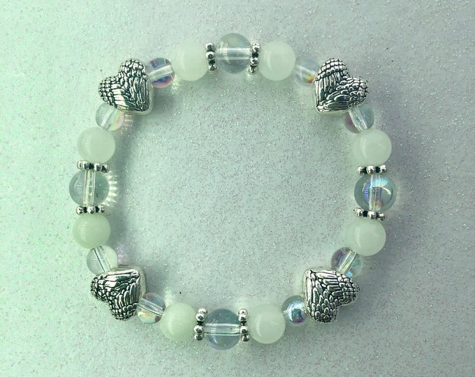 Angel Wing Hearts Bracelet