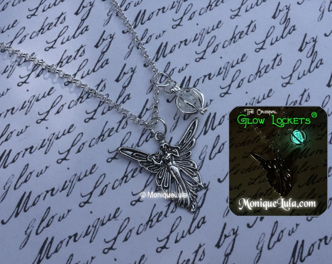 Faerie Wisp Glow Locket Orb Pendant Necklace