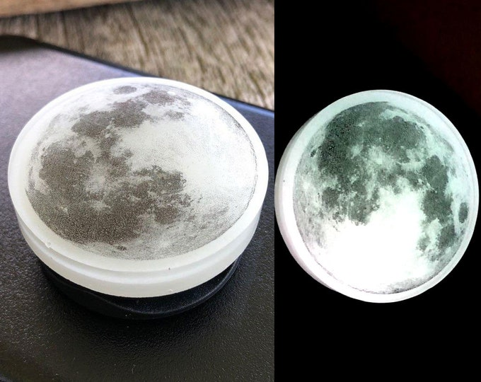 Full Moon Glow in the dark Cellphone Grip Stand