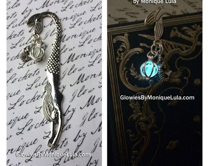 Mermaid Bookmark with Glowing Orb