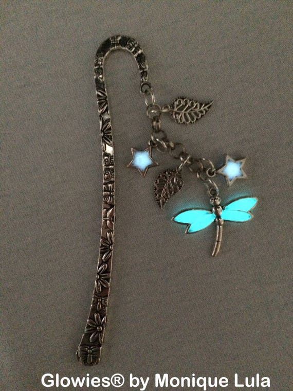 Glowing Dragonfly Moonlight Star Glow Victorian Bookmark