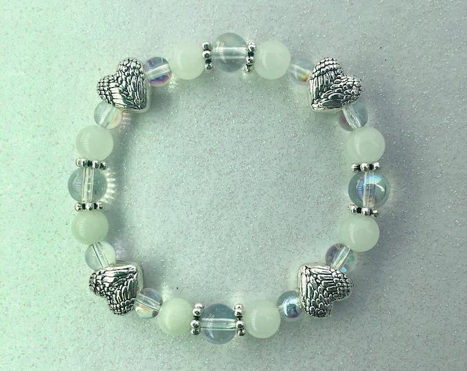Angel Wing Hearts Bracelet