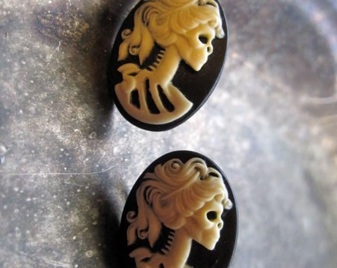 Gothic Lolita Cameo Stud Earrings