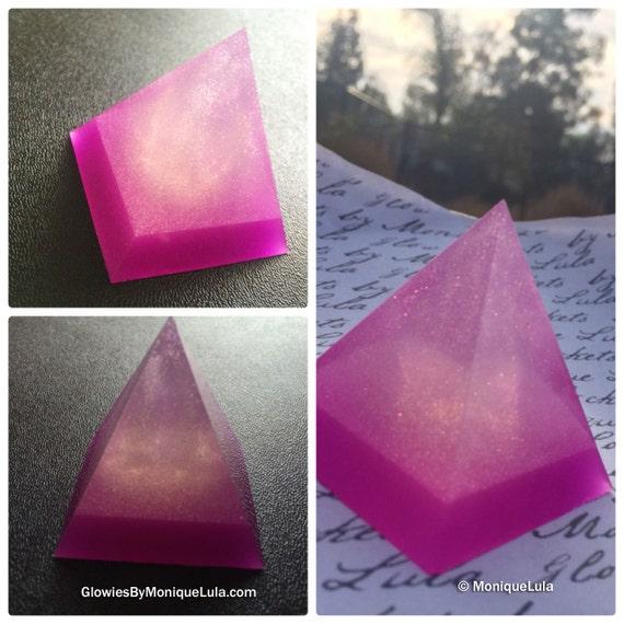 Handmade Violet Amethyst Glow Pyramid