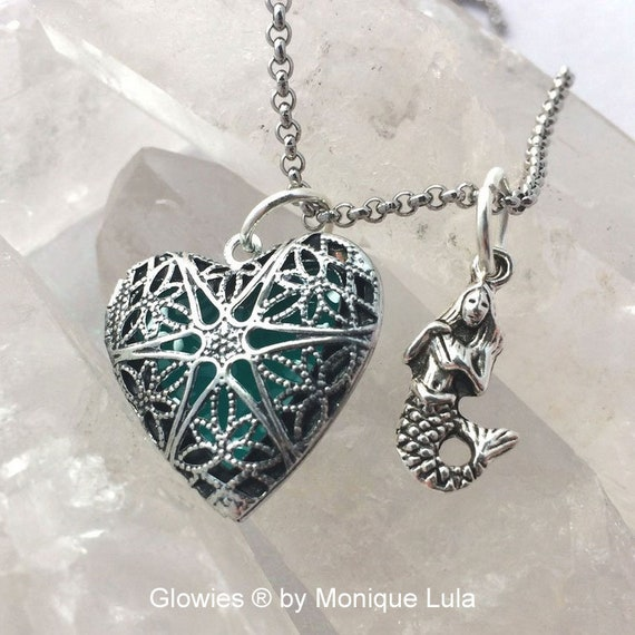 Mermaid Heart of the Atlantis Glow Locket ® Necklace